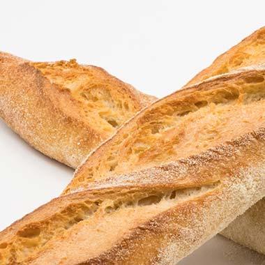 barra de pan blanco