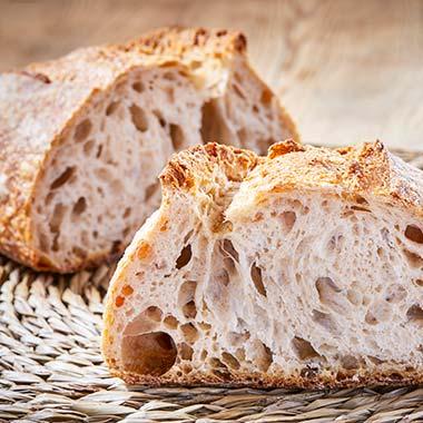 Pan de hogaza de trigo